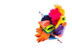 La cuisine colorée de nettoyage, la salle de bains et d'autres salles nettoient servic Photographie stock libre de droits