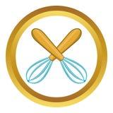 La cuisine croisée bat l'icône de vecteur illustration de vecteur