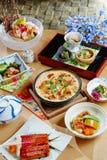 La cuisine de Japonais de Taïpeh Yamazato de prestige d'Okura image stock
