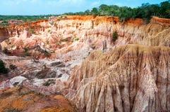 La cuisine de l'enfer, canyon de Marafa Image stock
