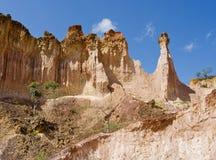 La cuisine de l'enfer, canyon de Marafa, Kenya Images stock