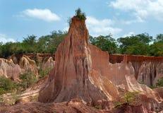 La cuisine de l'enfer, canyon de Marafa, Kenya Images libres de droits