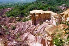 La cuisine de l'enfer, canyon de Marafa, Kenya Photos libres de droits