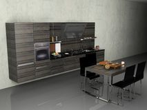 La cuisine moderne photo stock