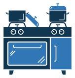 La cuisson de la ligne vecteur de gamme a isolé l'icône adaptée et editable aux besoins du client Photographie stock