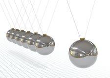 La culla di Newton - metallica, d'argento, pendolo di Chrome 3D illustrazione vettoriale