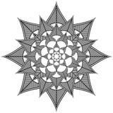 La cultura indiana ha ispirato la forma del fiore fatta dalle forme di foglie Fotografia Stock