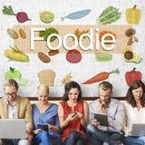 La culture culinaire de cuisine de fin gourmet fraîche garnissent le concept Photo stock