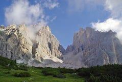La cumbre de Cristallo, uno del pico más alto de la dolomía Imágenes de archivo libres de regalías