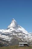 La cumbre del Cervino Imagen de archivo libre de regalías
