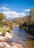 La Cumbrecita in Argentina. Picturesque autumn landscape of La Cumbrecita in Cordoba, Argentina stock images