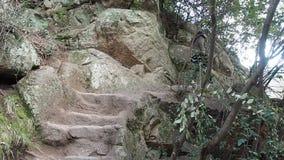 Woman hikes in La Cumbrecita stock video