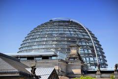 La cupola del Reichstag Fotografia Stock