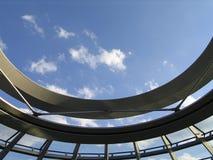 La cupola del Reichstag tedesco fotografia stock