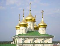 La cupola della chiesa della natività di John Baptist Nizhny Novgorod Fotografie Stock Libere da Diritti