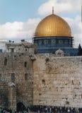 La cupola della roccia e della parete occidentale immagini stock libere da diritti