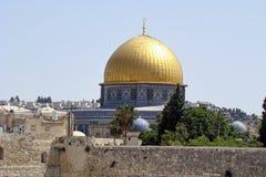 La cupola della roccia a Gerusalemme, Israele fotografia stock libera da diritti