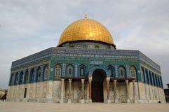 La cupola della roccia a Gerusalemme, Israele Fotografie Stock Libere da Diritti