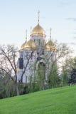 La cupola di tutta la chiesa dei san su Mamayev Kurgan Fotografie Stock Libere da Diritti