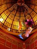 La cupola di vetro macchiato Fotografia Stock