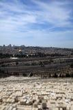 Cupola della roccia & del cimitero ebreo Fotografie Stock