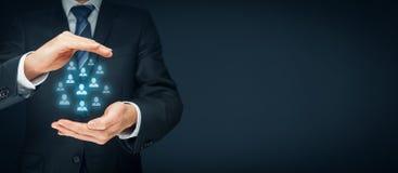 La cura del cliente e dirige le risorse umane immagine stock