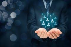 La cura del cliente e dirige le risorse umane immagini stock