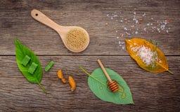 La cura di pelle e casalingo alternativi sfrega con naturale ingredien Immagini Stock