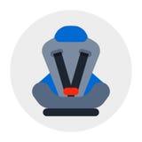 La cura di viaggio del trasporto di sicurezza isolata sede di automobile del bambino e il bsecure infantile del veicolo del bambi royalty illustrazione gratis