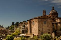 La curia nel forum romano Immagini Stock