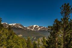 La curva de muchos parques pasa por alto en Rocky Mountain National Park Fotografía de archivo libre de regalías