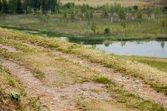 La curva del camino Fotos de archivo