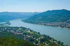 La curva del Danubio Fotografia Stock Libera da Diritti