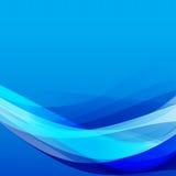 La curva del fondo astratto e l'elemento blu-chiaro dell'onda vector il ill Fotografia Stock