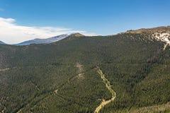 La curva dell'arcobaleno trascura in Rocky Mountain National Park Fotografia Stock Libera da Diritti