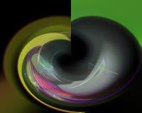 La curva mágica del fractal digital abstracto adorna creativo, plantilla artística, elegancia, dinámica libre illustration