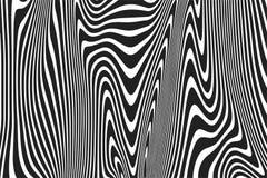 La curva ondulada del modelo abstracto alinea las líneas blancas negras fondo de la ondulación del vector ilustración del vector