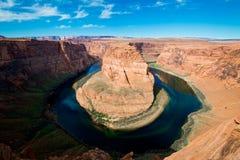 La curva y el río Colorado famosos del zapato del caballo Foto de archivo libre de regalías