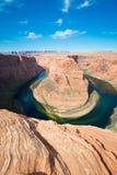 La curva y el río Colorado famosos del zapato del caballo Fotos de archivo libres de regalías