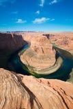 La curva y el río Colorado famosos del zapato del caballo Imagen de archivo