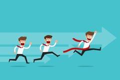 La curvatura e la holding asiatiche dell'uomo d'affari della concorrenza concept affare competitivo dell'uomo d'affari royalty illustrazione gratis