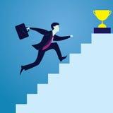 La curvatura e la holding asiatiche dell'uomo d'affari della concorrenza concept Uomo d'affari del vincitore royalty illustrazione gratis