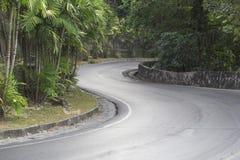 La curvatura nella strada dalla montagna Immagine Stock