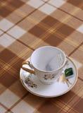 La cuvette avec le sachet à thé Photo libre de droits