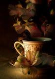 La cuvette de thé Photo libre de droits