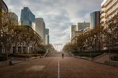 La Défense sabato pomeriggio fotografie stock libere da diritti