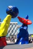 La Défense巨人雕塑 免版税库存照片