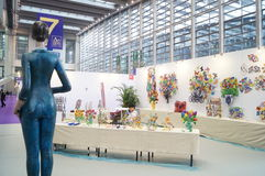 La décima industria cultural internacional de China (Shenzhen) justa en la exposición de arte del arte del invierno Fotos de archivo libres de regalías