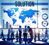 La décision de résolution des problèmes de solution répond au concept Photo libre de droits
