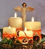 La décoration avec l'ange de Noël photo libre de droits